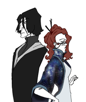 Snape and Sinistra by Weasley-Detectives