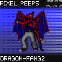 Pixel Peeps - Dragon-Fang2 by KaoticAlex