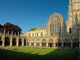 Cloister in Canterbury by AgiVega