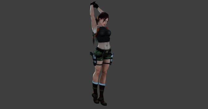 AOD Lara stretching pose by ArtiMuller