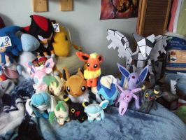 my eeveelution collection by legendarydragonstar