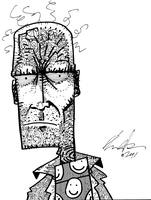 The Disgruntled Avenger daily sketchbook challenge by exspasticcomics