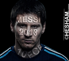 Messi Typography by HeshamGFXER