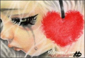 Listen to your Heart ACEO by Katerina-Art