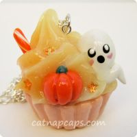 Spooky Pumpkin Necklace by CatNapCaps