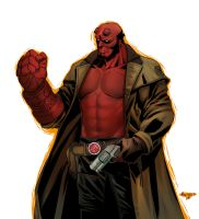Hellboy by pop-lee