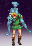 [C] Link and Ruto by WhiteLabelComics