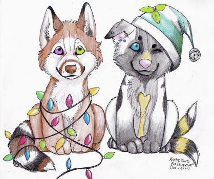 Merry Christmas gifts by NatsumeWolf