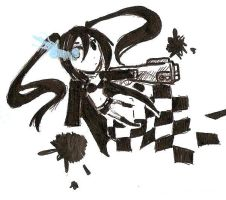 Black Rock Shooter by why-yari