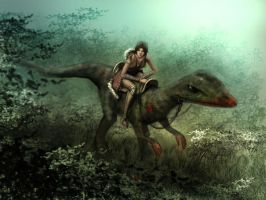 Raptor rider by HeroDees