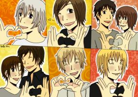 Hetalia: Favourite Characters by QueenMina
