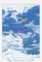 Butterflies dancing in the sky by graffo