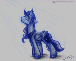 Princess Luna R63 skecth by Riquis101