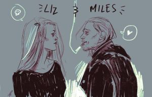 Liz and Miles sketch by bleueapple