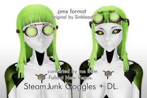 SteamJunk Goggles  for MMD + DL! by IamMaemi