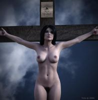 Crucified Woman Dark Color 700 by passionofagoddess