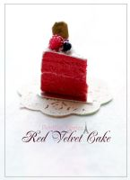 Red Velvet Cake Miniature by PetitDeCherries