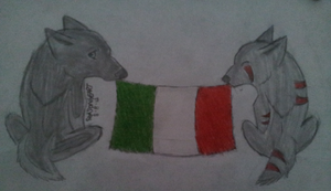 Italy flag by wolf-star-studios