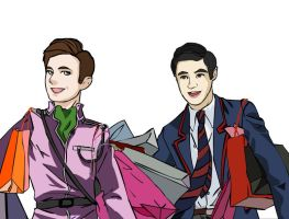 Klaine Shopping spree by XxMinishaxX