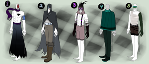 Slender Adoptables ~2~ -:CLOSED:- by Drawotion