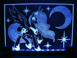 MLP - Princess Luna 2 (ENGRAVE+LED) by Ksander-Zen