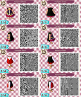 ACNL- Vampire Outfit QR Codes by ACNL-QR-CODEZ
