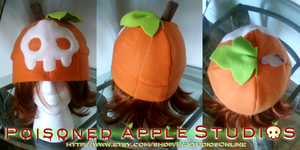 Poisoned Pumpkin Fleece Hat by kuramachan