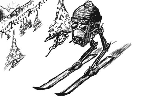 Imperial AT-ST Skier by Joolin
