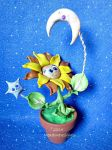 Sun, Moon and Stars Flower by MeadowDelights