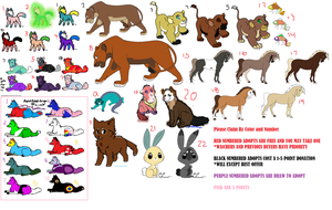 (MOSTLY) Free Adopts OPEN by iCassieWolfe