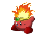 Fire Kirby by flashthewolf