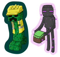 Minecraft keyrings by Blue-Fayt