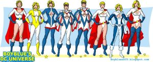 Power Girl costumes by BoybluesDCU