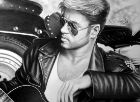 Drawing George Michael by serkanpainter