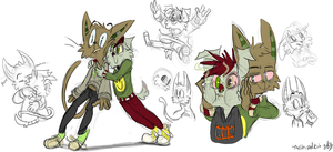 Em Kipt Booger Sketches by TheStripedKit