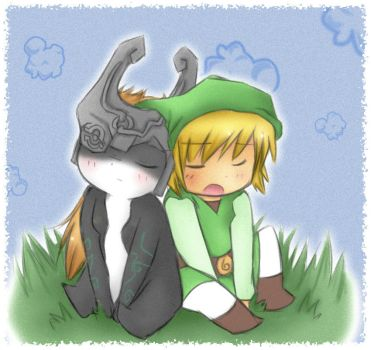 midna x toon link by Midna01
