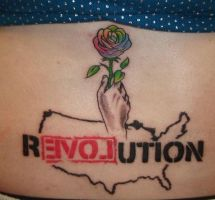 Ron Paul Revolution Tattoo by StepPenny