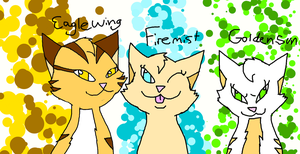 Eaglewing,Firemist, and Goldensun by Darkpaw-Lights