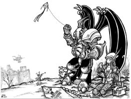 The Kite of a Dreadlord by DemonMads