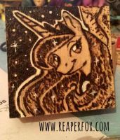 Woodburning / Pyrography - Princess Luna by reaperfox