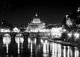 St Peter's by Night by superflyninja