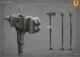 Robert Baratheon's Warhammer by Alex-Maxwell