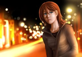 M at night by Mafer
