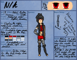 Akimi Reference Sheet by CartoonMad97
