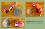 Fox Pendants - Second Set - Selection Limited by Bittythings