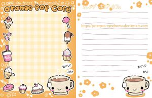 Orange Pop Cafe - Stationary by PeterPan-Syndrome