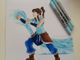 The Legend Of Korra - Copic Marker drawing by artbox99