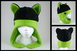 Cat ear aviator hat by eitanya