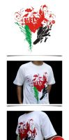 Support Palestine Tee v1 by rokkinvisual