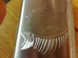 Fish Skeleton Engraving by XResch
